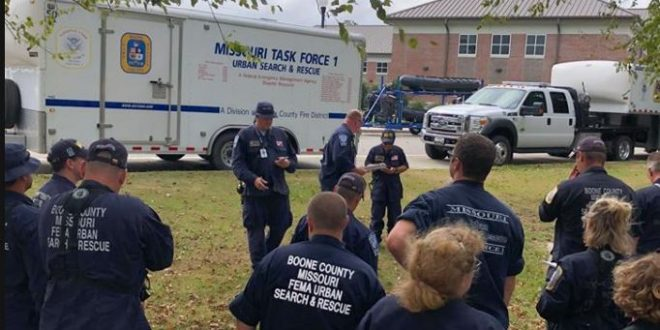 Missouri Task Force 1 in North Carolina before Hurricane Florence