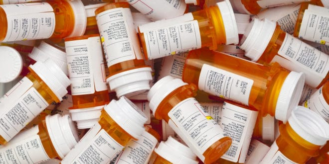 Prescription Medication Pill Bottles
