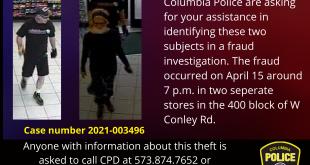 Courtesy: Columbia Police Dept.